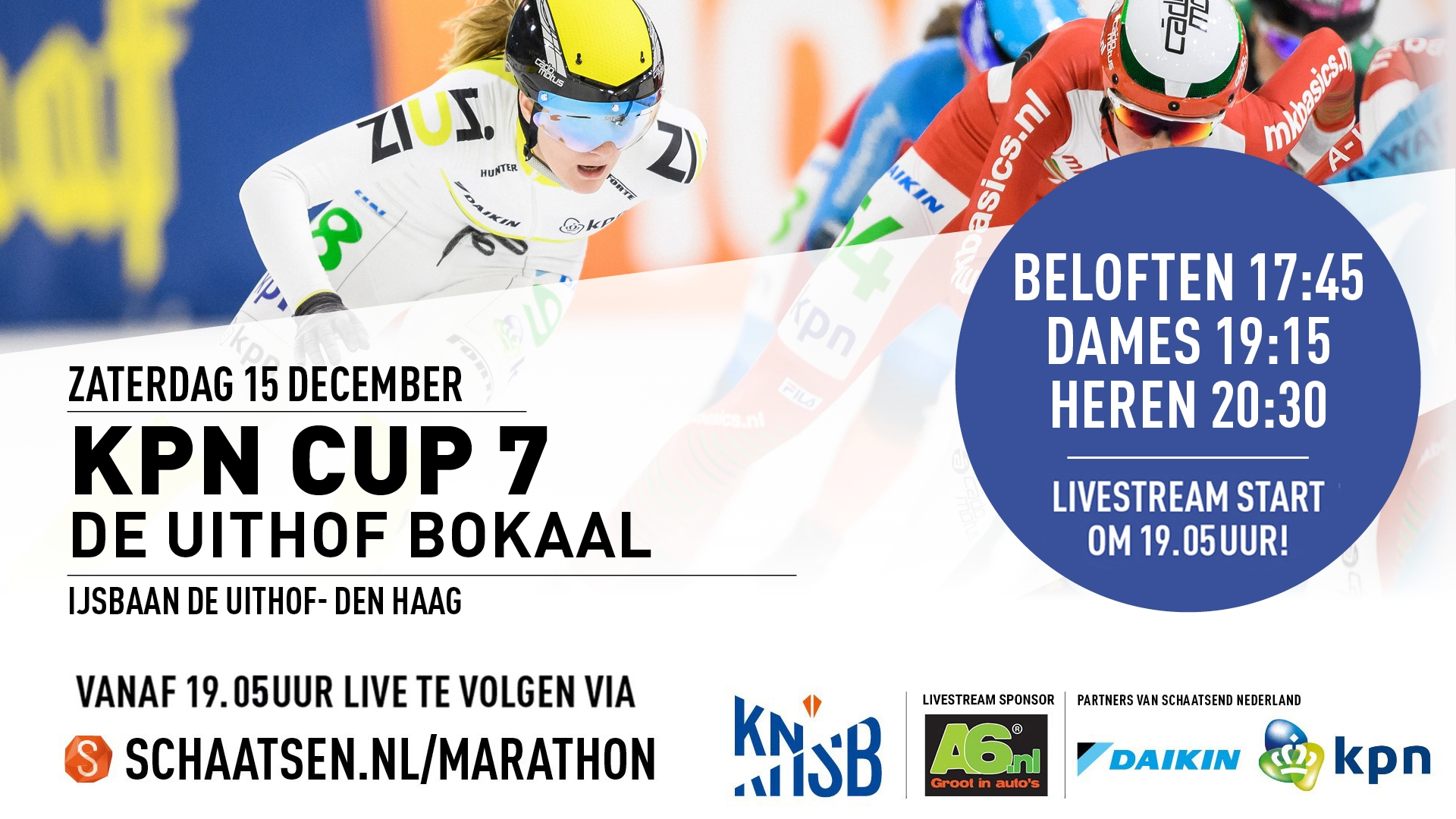Livestream kpn marathon cup 7 den haag 15 december 2018